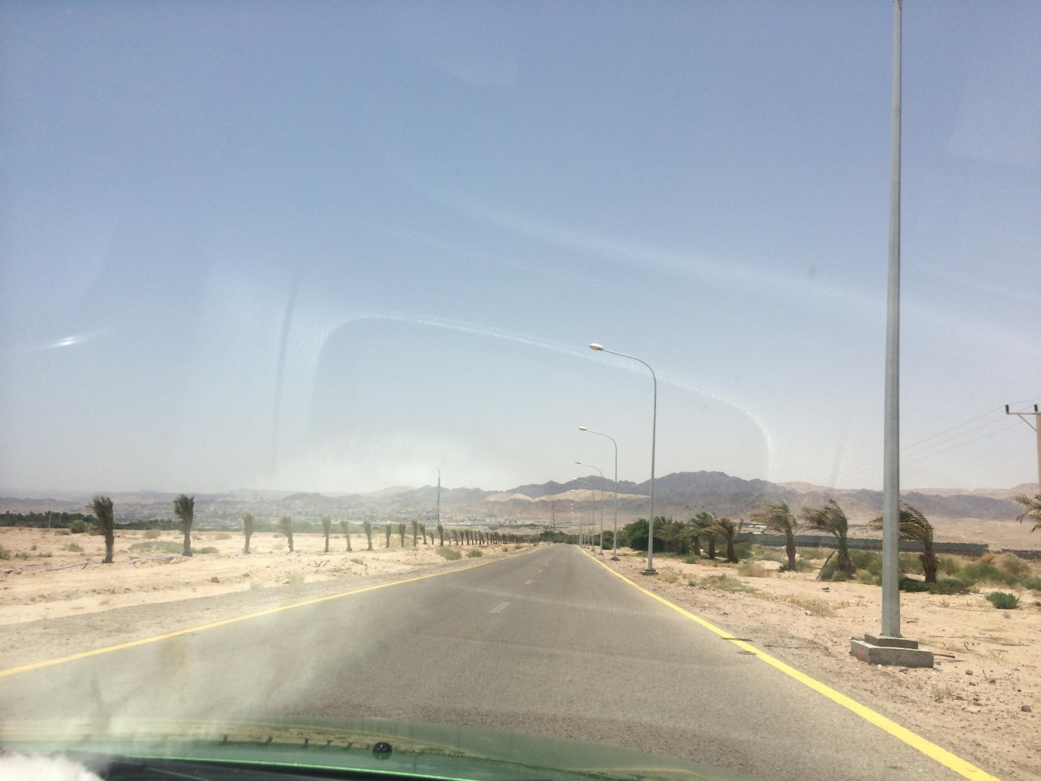 Driving to Border with Israel